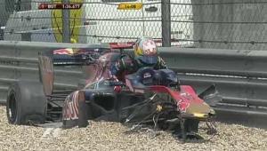 F1 GP Chin 2010 FP1 wypadek Buemiego