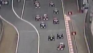 Początek wyścigu o Grand Prix Chin 2010