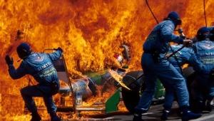 Pit Stop Jos Verstappen team Benetton. 1994