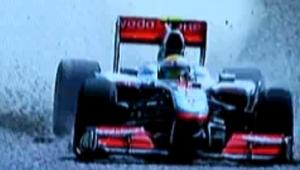 Wypadek Lewis Hamilton Grand Prix Hiszpanii 2010 F1