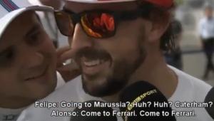Felipe: Going to Marussia? Caterham? Japan 2014